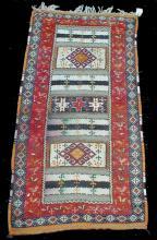 Hand tied rug. 7'1