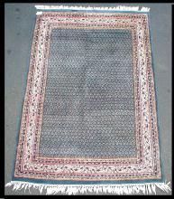 Hand tied carpet. 6'11