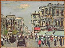 BART SCHOUTEN LEROY (DUTCH, 1941-2001) STREET SCENE.