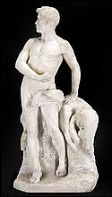 ITALIAN CARVED MARBLE SCULPTURE.