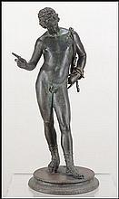 NEAPOLITAN BRONZE FIGURE OF NARCISSUS.