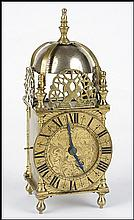 19TH CENTURY ENGLISH LANTERN CLOCK.