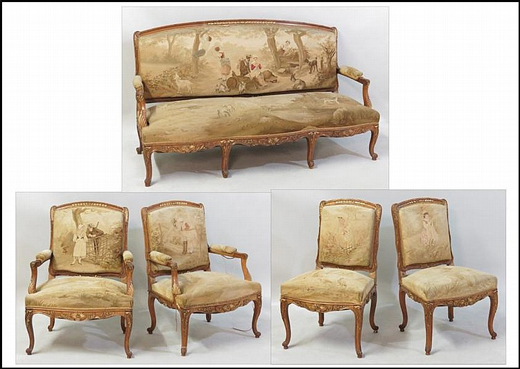 19TH CENTURY FRENCH PARLOR SUITE.