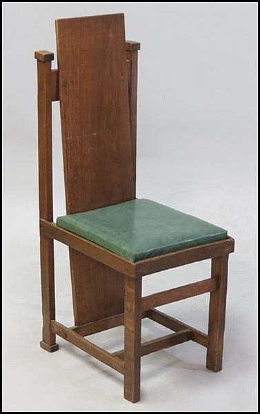FRANK LLOYD WRIGHT SIDE CHAIR.