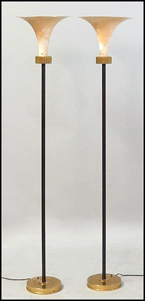 PAIR OF FRENCH ART DECO TORCHIERE.