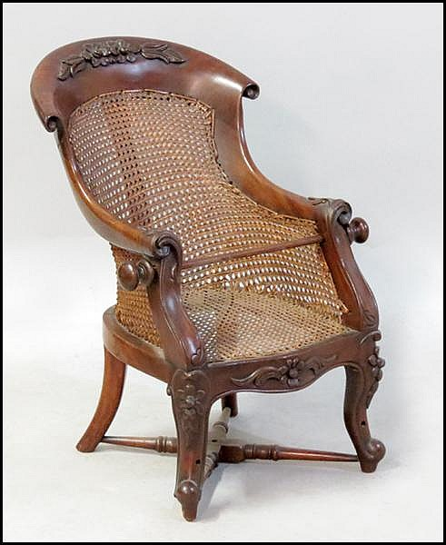MID 19TH CENTURY CHILD'S FEEDING CHAIR.