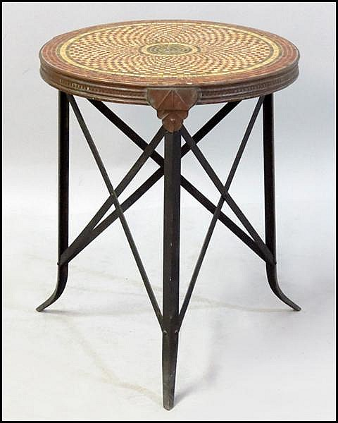 CONTINENTAL MOSAIC TOP TABLE.