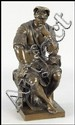PATINATED BRONZE FIGURE OF LORENZO DE MEDICI.
