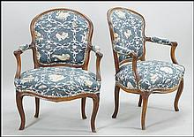 PAIR OF 19TH CENTURY CARVED OAK OPEN ARMCHAIRS.