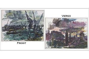 GEORGE FREDERICK BUEHR (1905-1983) CITYSCAPE/