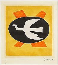 Georges Braque (French, 1882-1963) L'Oiseau de Feu (Oiseau XIII).