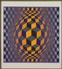 Victor Vasarely (Hungarian-French, 1906-1997) Composition., Victor Vasarely, $150