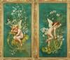 Charles Augustus Henry Lutyens (American, 1829-1915) Cupids Amongs Flowers: A Pair., Charles Augustus Henry Lutyens, $150