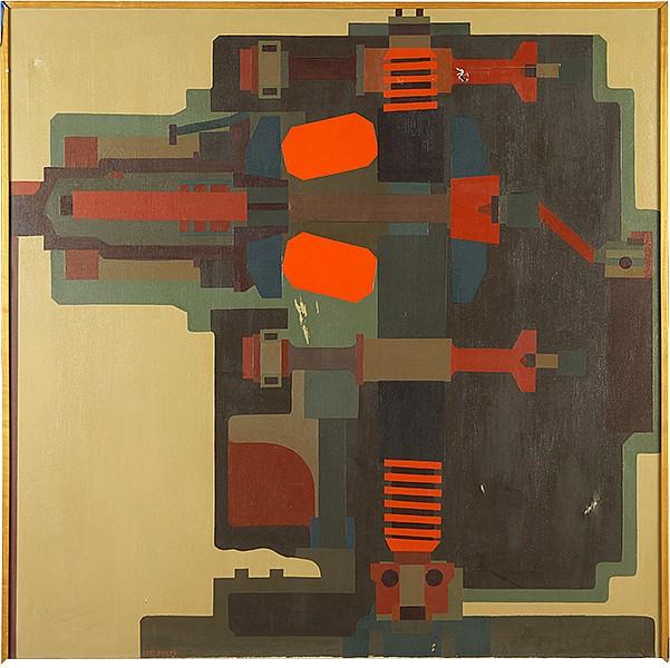 Lee Adler (American, B. 1934) Machine.