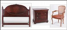 NATIONAL MT. AIRY MAHOGANY HEADBOARD AND NIGHTSTAND.