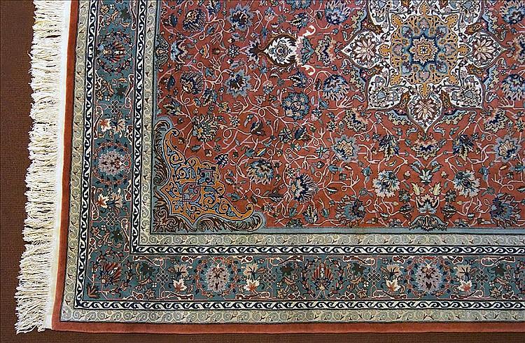 A Contemporary Tabriz Style Carpet.