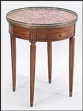 LOUIS XVI STYLE ROUND MARBLE TOP TABLE.