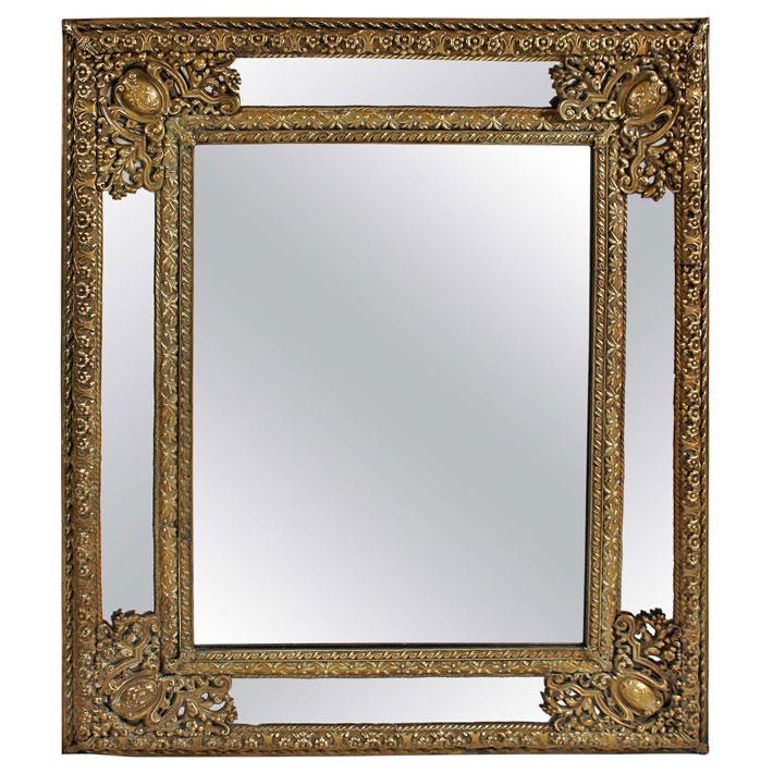 Dutch Repoussé Mirror