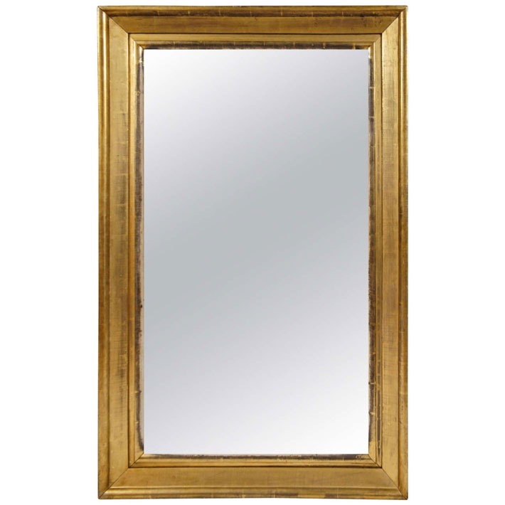 American Empire Gilt-Wood Mirror