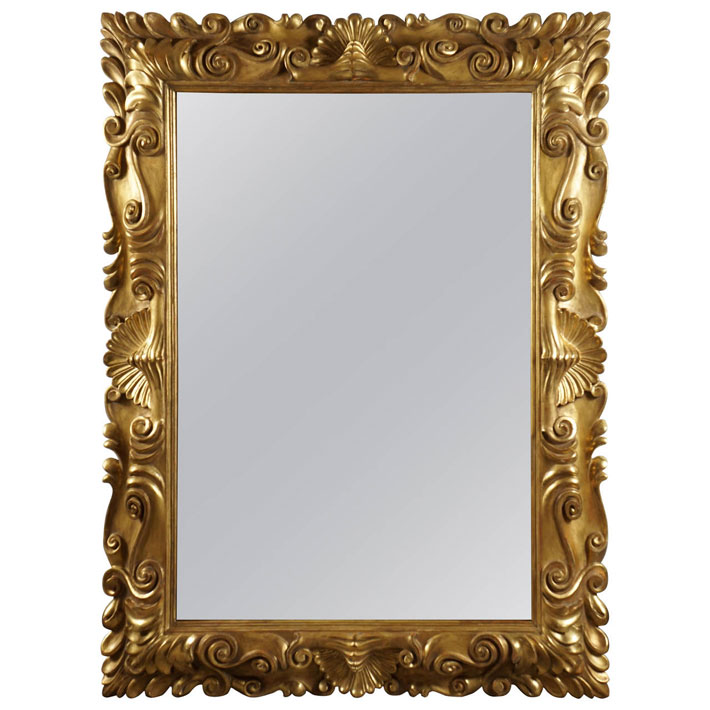 Ornately Carved Florentine-Style Mirror