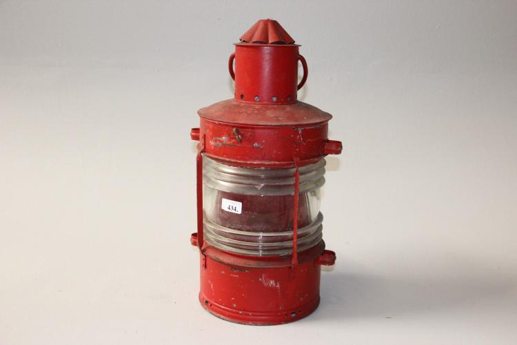 maritime effekter lanterne r dmalet metal h 53 cm. Black Bedroom Furniture Sets. Home Design Ideas