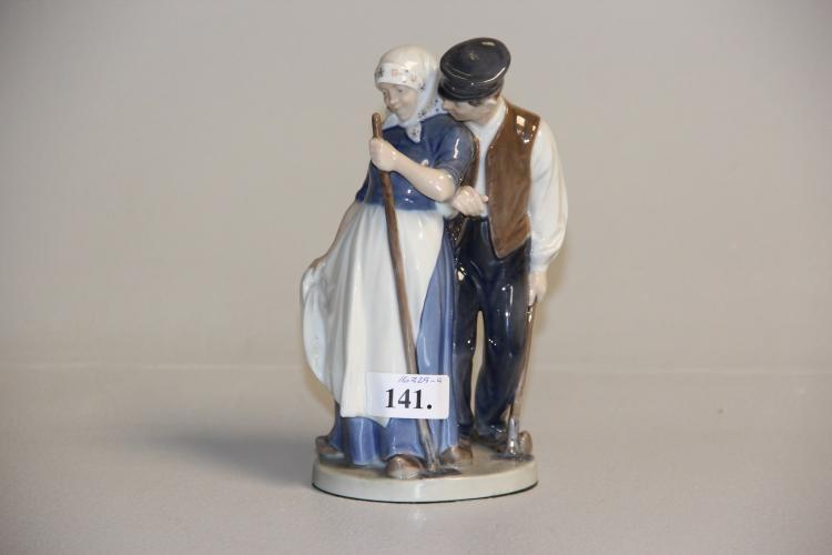 Figur, Kgl.# Hyrdepar, nr. 1300, med Juliane Marie mærke