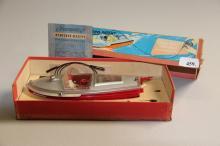 Gammelt legetøj, Schuco# Elektrisk motorbåd, i original kasse, l. 25 cm.