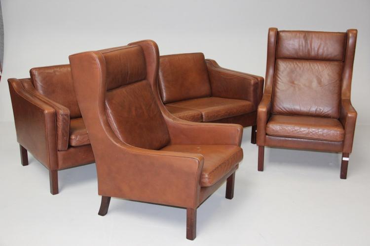 vejen polsterm belfabrik 3 personers sofa samt par reklaps. Black Bedroom Furniture Sets. Home Design Ideas