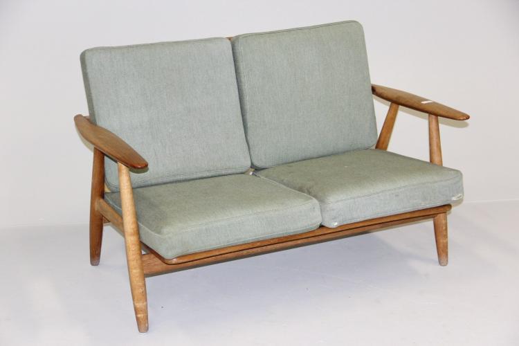 sofa 2 pers Hans J. Wegner 2 personers sofa, Cigaren, GE 240 2, stel af sofa 2 pers