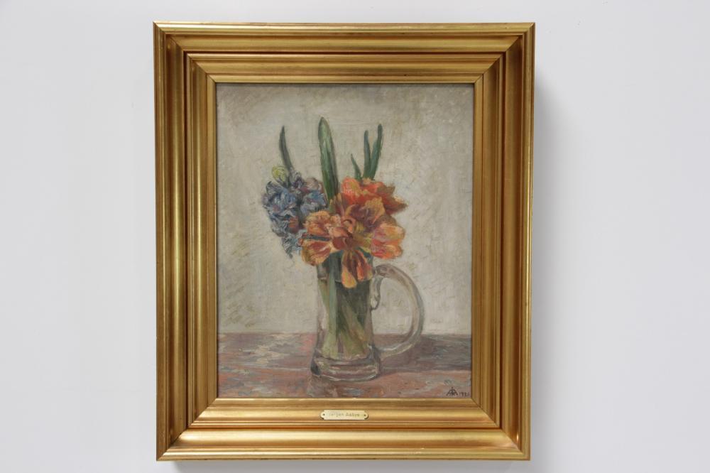 Jørgen Emil Aabye (1868-1959)# Blomsteropstilling olie på lærred signeret m