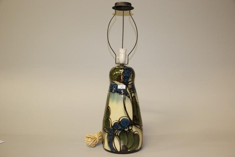 danico keramik Danico# Bordlampe, kohornsglaseret keramik, totalh. 80 cm. danico keramik