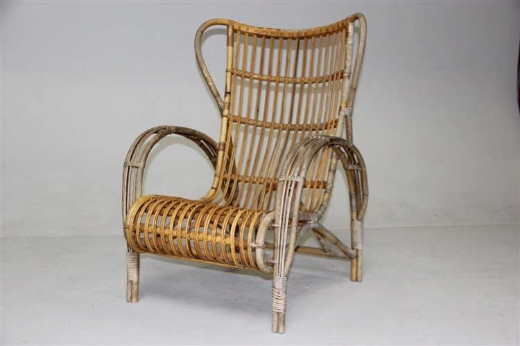 Dansk design, ca. år 1940 Kurvestol, bambus, Viggo Boesen-st