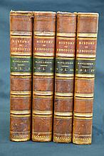 1862 Antiquarian Fine Binding Ancient History 4 Volume Set