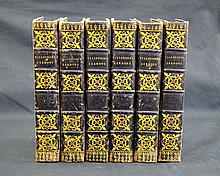 1743 Antiquarian Irish Foredge Paintings x 6 Volumes