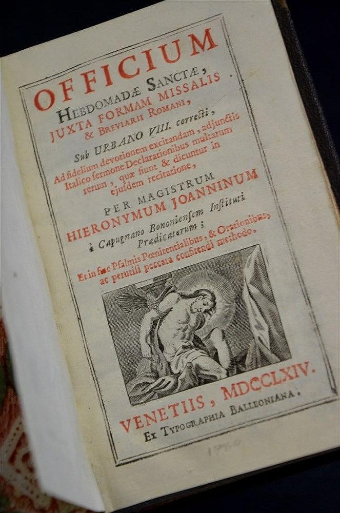 1764 Catholic Roman Breviary