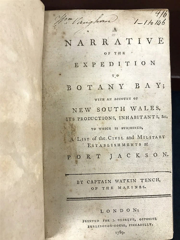 Tench Narrative 1789 First Edition