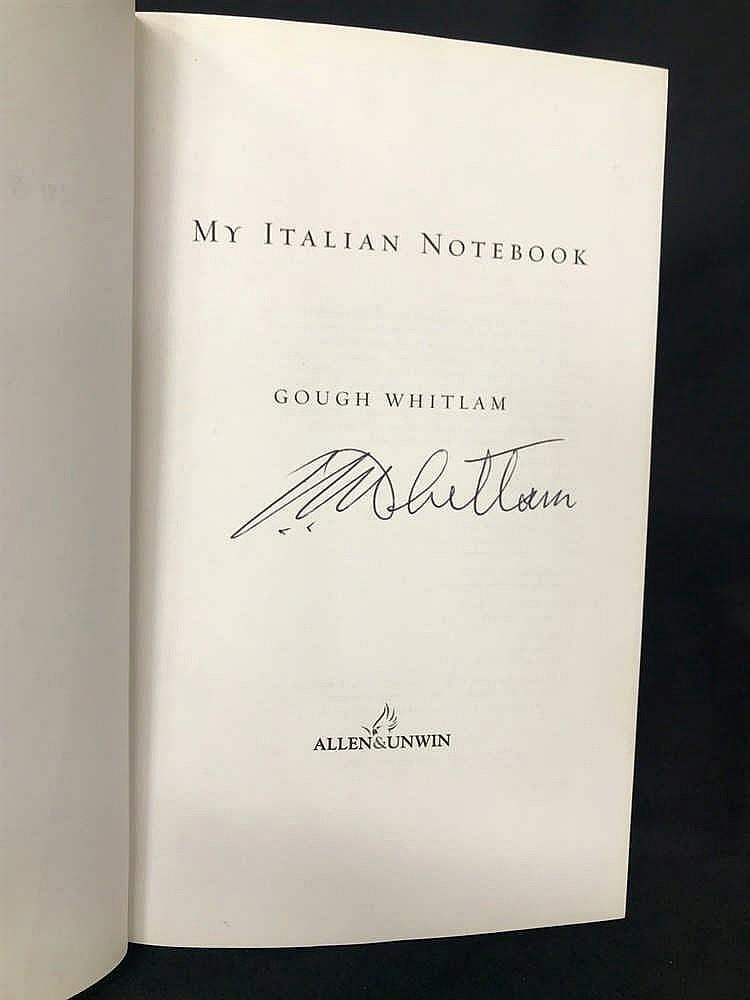 Signed Gough Whitlam