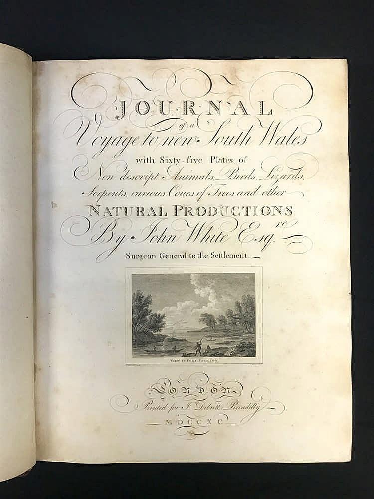 1790 Coloured White First Fleet Journal