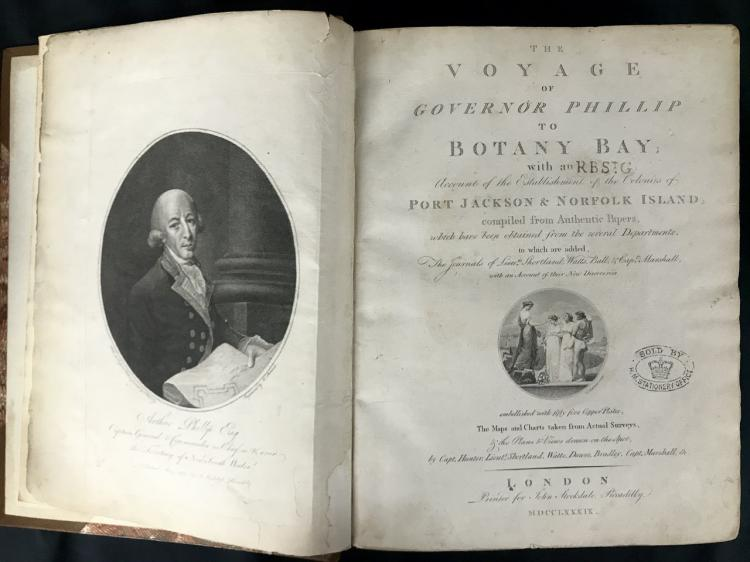 1789 Voyage of Governor Phillip to Botany Bay