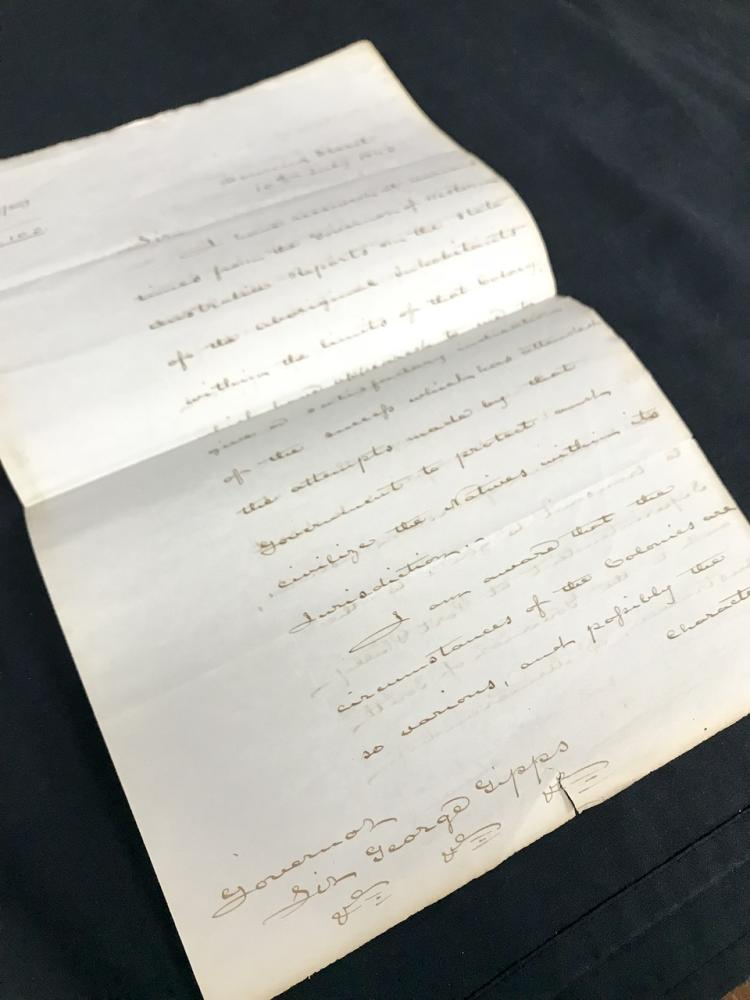 Aboriginal Australian Colonial Policy: 1843 Letter - George Gipps