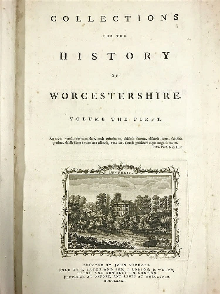Worcestershire 1781