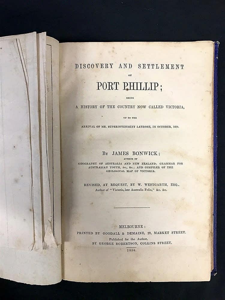 Bonwick Port Phillip 1856