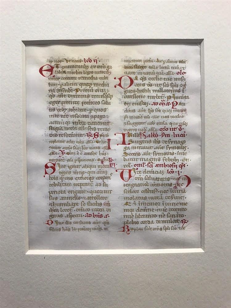 Medieval Illuminated Manuscript Leaf 1475