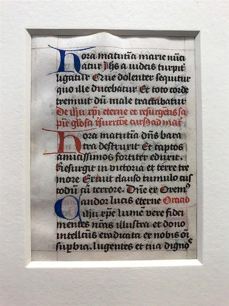 Medieval Illuminated Manuscript Leaf 1480