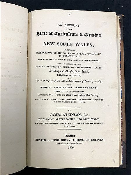 Atkinson Agriculture in NSW 1826