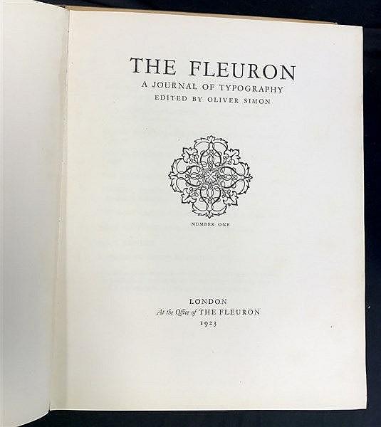 Fine Binding Stanley Morrison Complete Fleuron