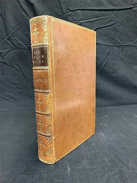 Fine Binding Macarthur 1837 History of NSW