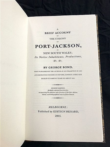 Bond Port Jackson 1803 Facsimile