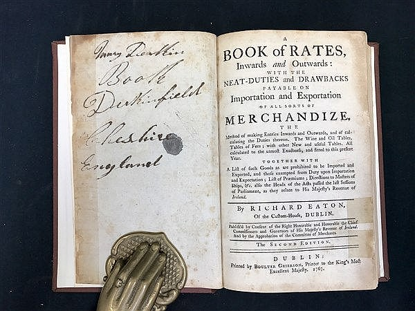 1767 Book of Rates