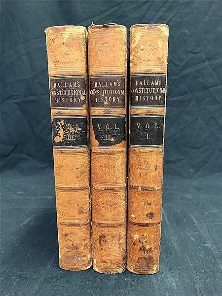 Fine Bindings Hallam's Constitutional History x 3